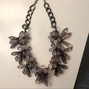 Statement Necklace in Grey Fog